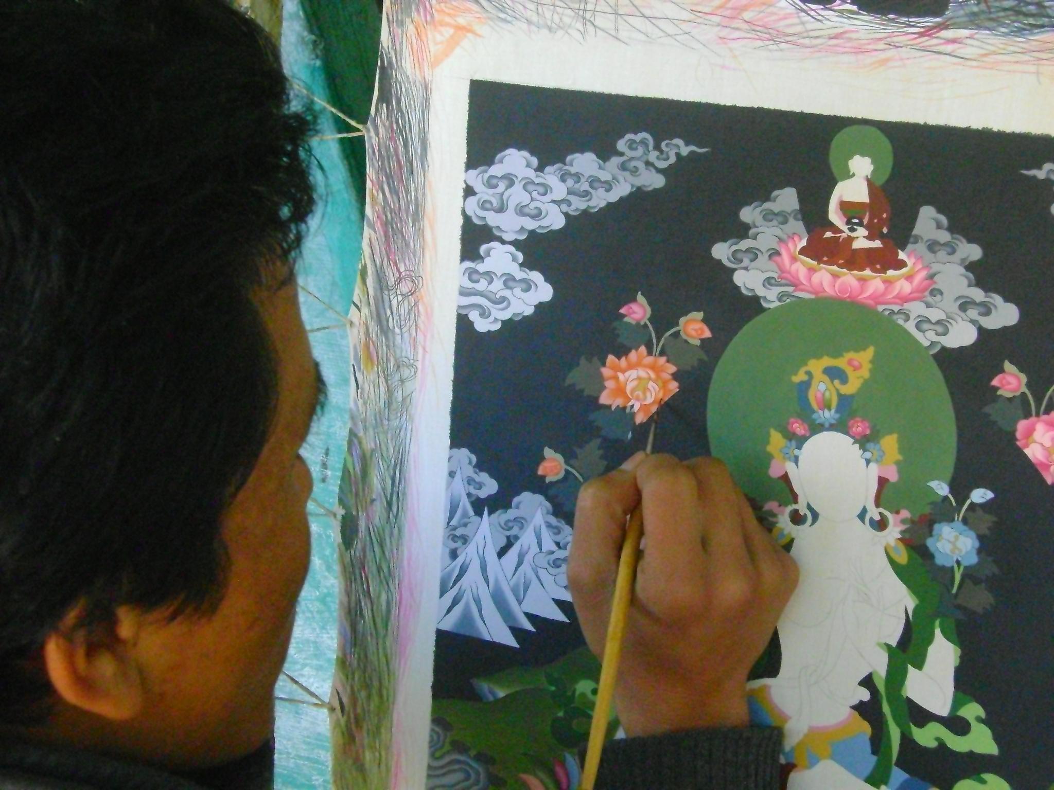 Para o artista Pashupati Lama, que necessita um dia para pintar