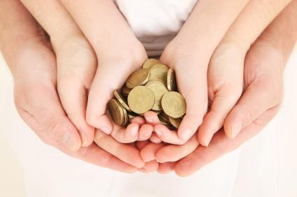 dar dinheiro