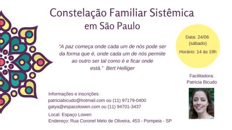 Constelação Familiar com Patricia Bicudo, emSP